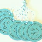 It's A Boy Tags - Set of 5