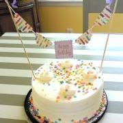 Happy Birthday and Candles Cake Bunting/Cake Topper